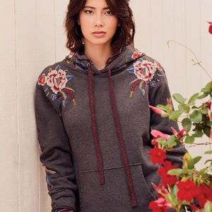 JOHNNY WAS | Black Embroidered Darielle Hoodie
